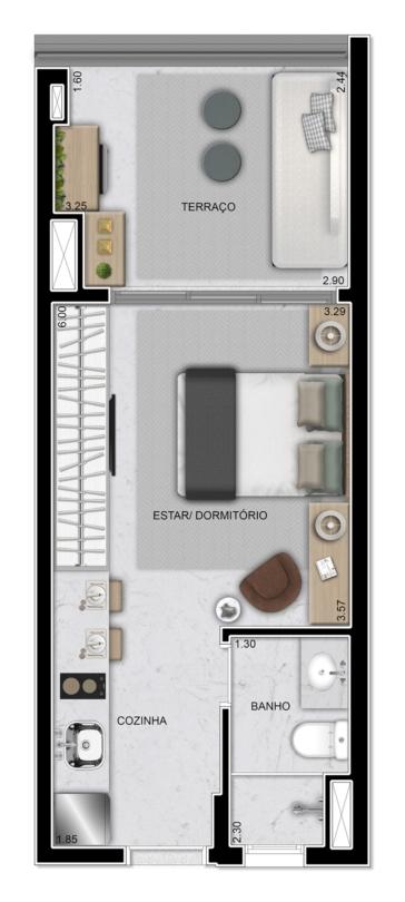 Studio - 31 m²