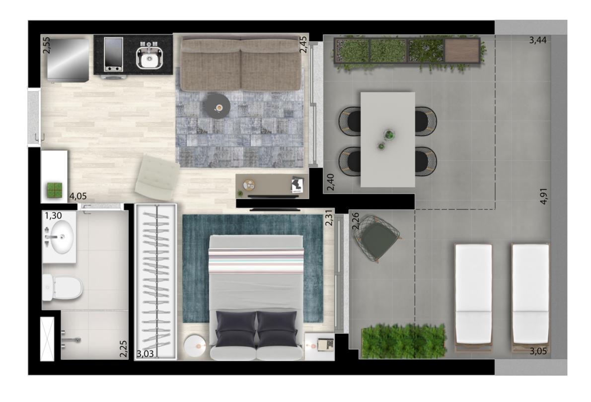 35 m² - Studio